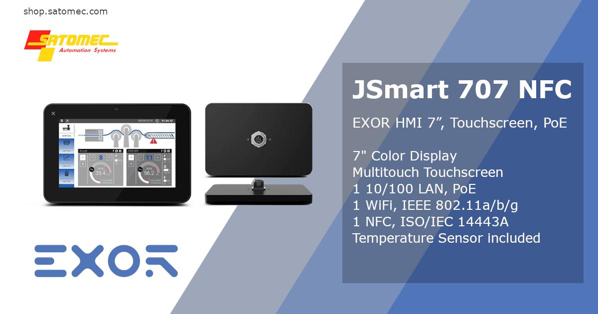 "EXOR JSmart 707 with NFC - 7"" HMI"